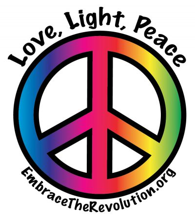 Peace with text logo