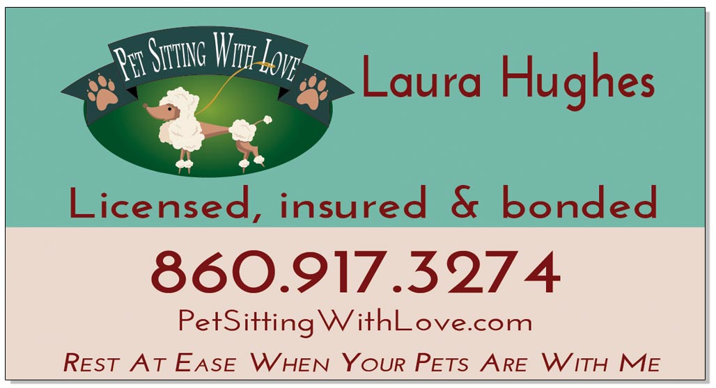 Pet Sitting With Love Business Card